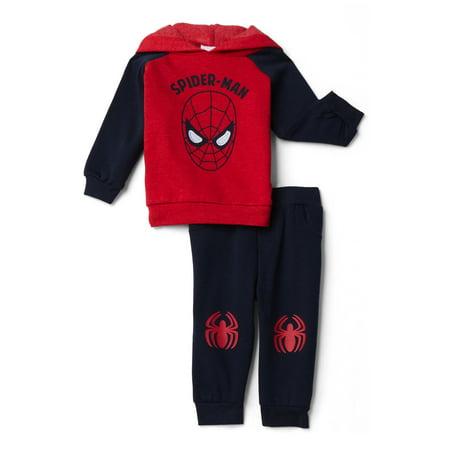 Spider-Man Baby Boys' Snow Fleece Hoodie & Joggers, 2-Piece Set Spider Man Fleece