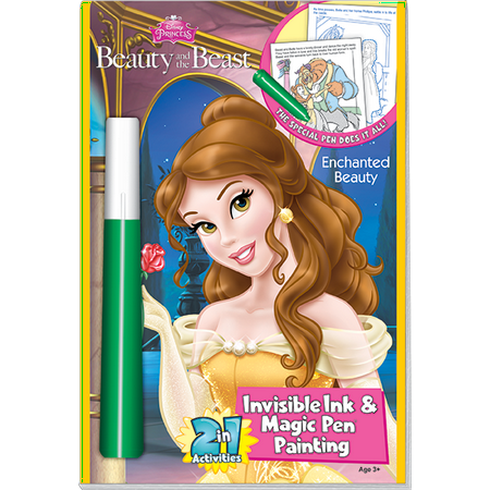DISNEY\'S Princess Magic Pen Painting Book: Beauty and the Beast Coloring  Book