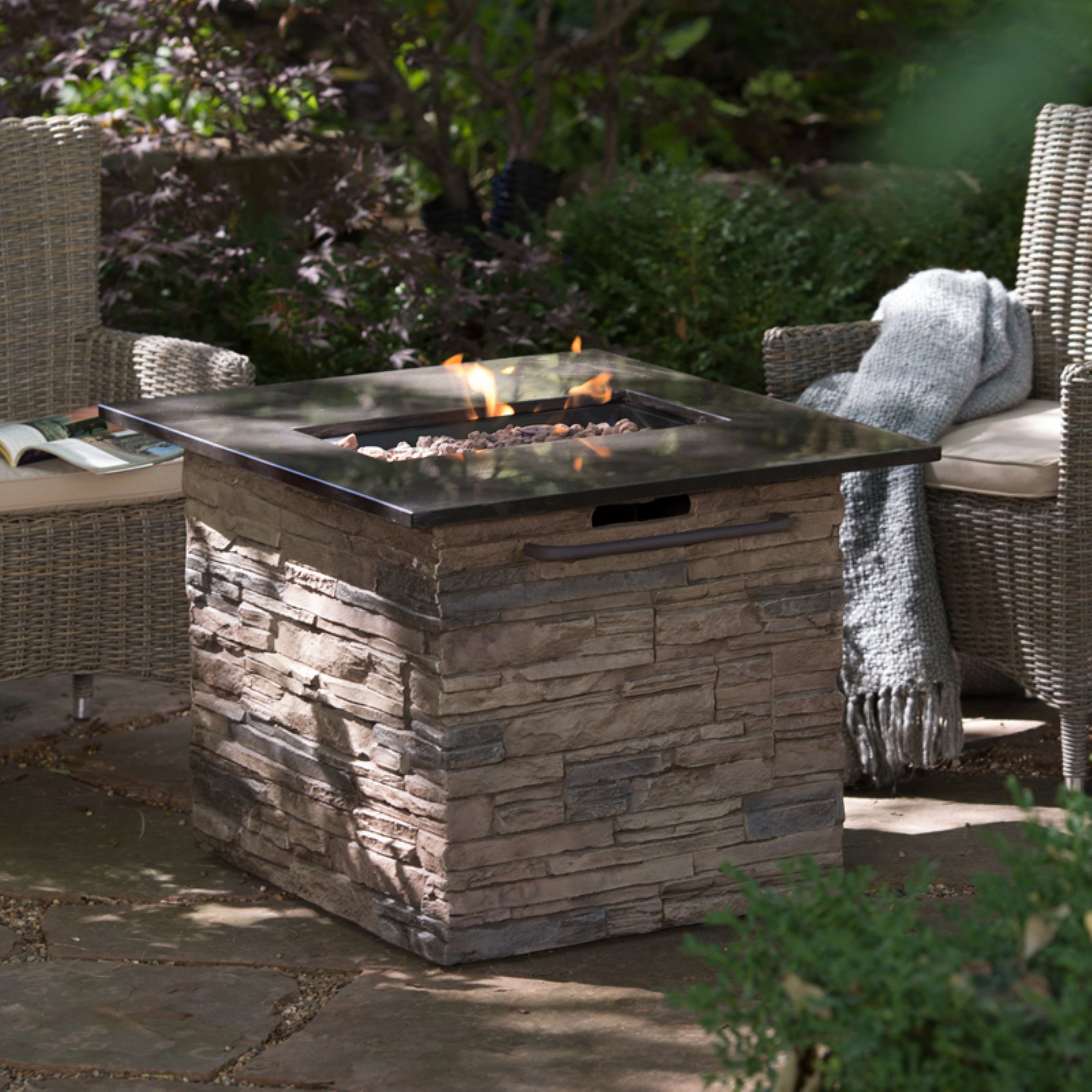 Belham Living Coronado Gas Firepit Table with FREE Cover by Bond Manufacturing