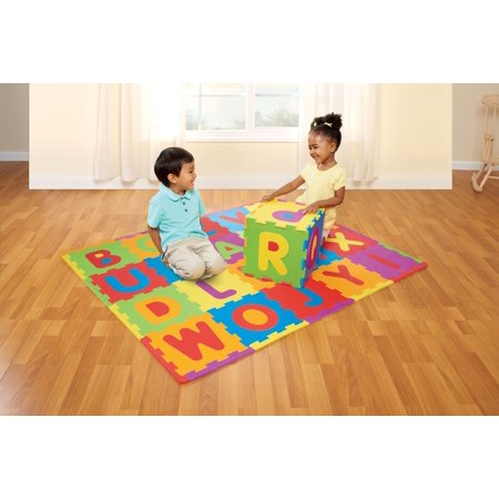 Spark. Create. Imagine. 28- Piece Interlocking Tile ABC Soft Foam Playmat