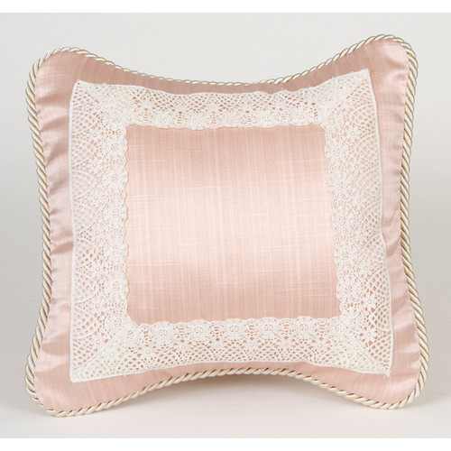 Glenna Jean Madison with Lace Throw Pillow