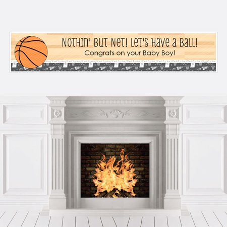 Nothin' But Net - Basketball - Baby Shower Decorations Party Banner](Basketball Banners)