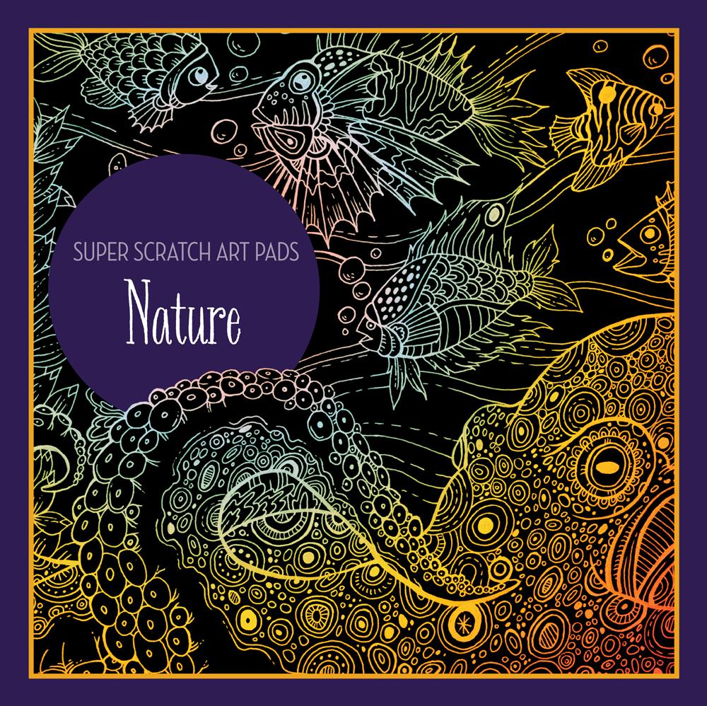 Super Scratch Art Pads: Nature (Paperback)