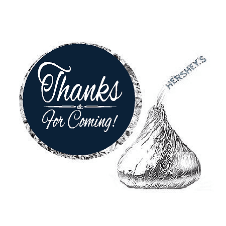 216ct Navy Thanks for Coming Party Favor Hersheys Kisses Candy Decoration Stickers / Labels](Party Favor Labels)