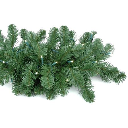 Novelty Lights 9 Foot Christmas Garland, Colorado Green Pine, Warm White