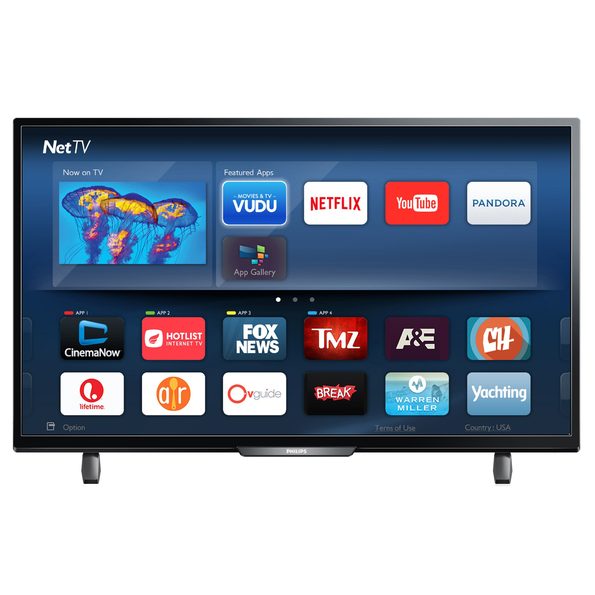 """Refurbished Philips 40"""" Class FHD (1080P) Smart LED TV (40PFL4901) by Philips"""