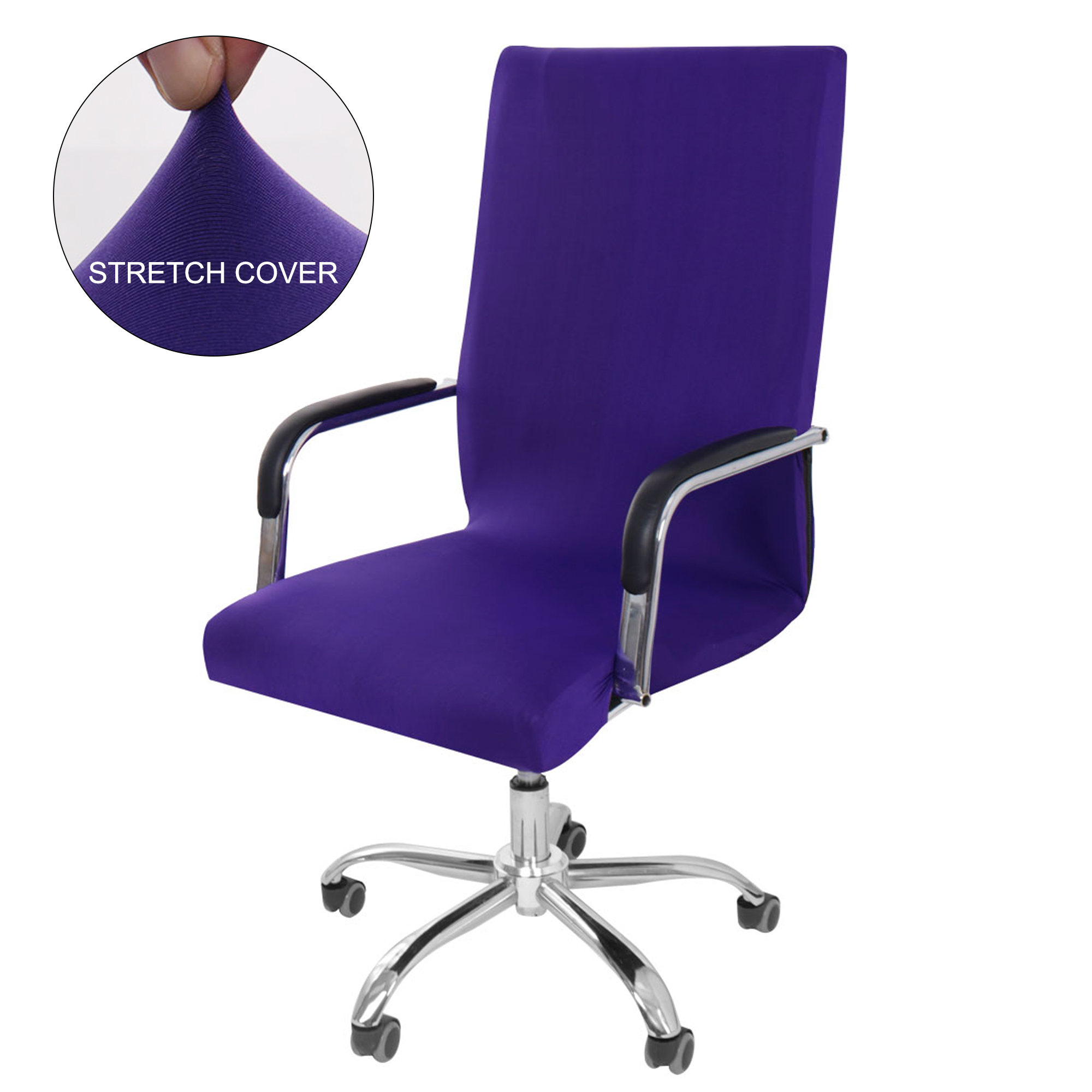 Swivel Computer Chair Cover Washable Removable Armchair ...