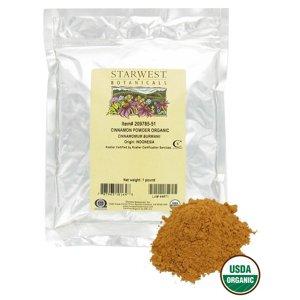 Starwest Botanicals - Bulk Cinnamon Powder Organic - 1 lb.