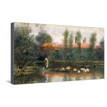 - The Pond of William Morris Works at Merton Abbey Stretched Canvas Print Wall Art By Lexden L. Pocock