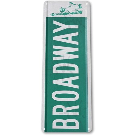 TIN SIGN B222 Broadway Street Sign New York Street Metal Street Sign Decor, By - Broadway Signs