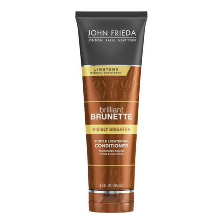John Frieda Brilliant Brunette Visibly Brighter Subtle Lightening Conditioner, 8.3 Fl