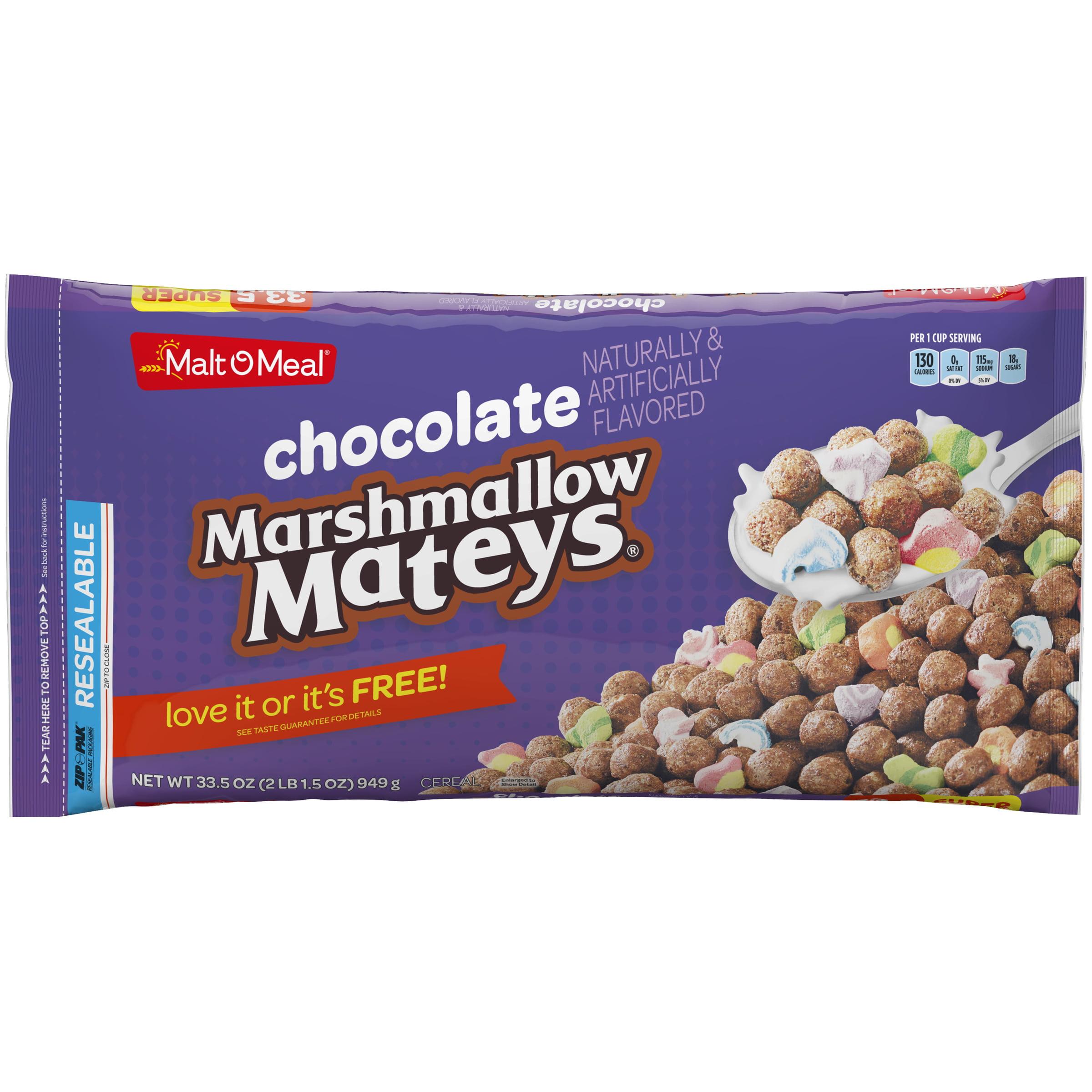 Malt-O-Meal Cereal, Chocolate Marshmallow Mateys, 33.5 Oz