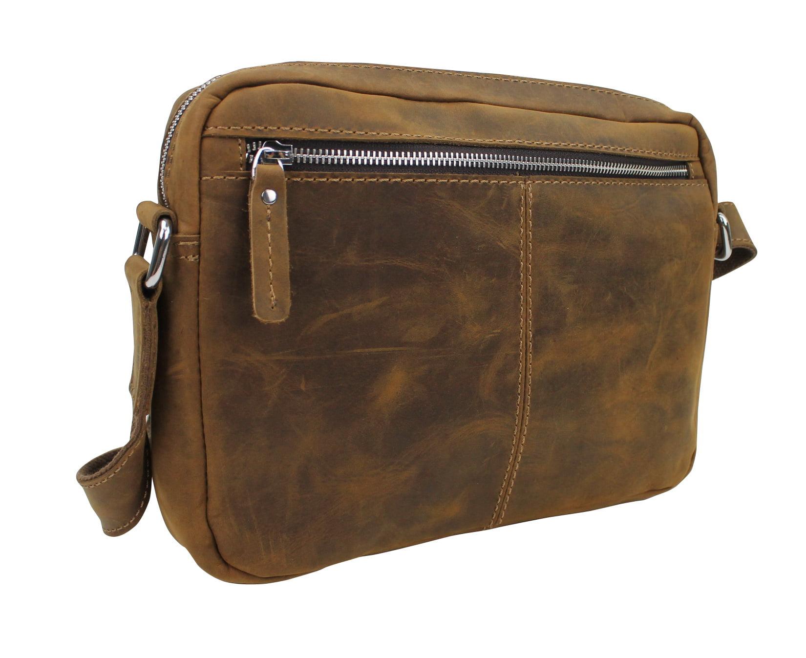 Vintage Distress Vintage Full Grain Leather Leather Casual Messenger Bag LM09