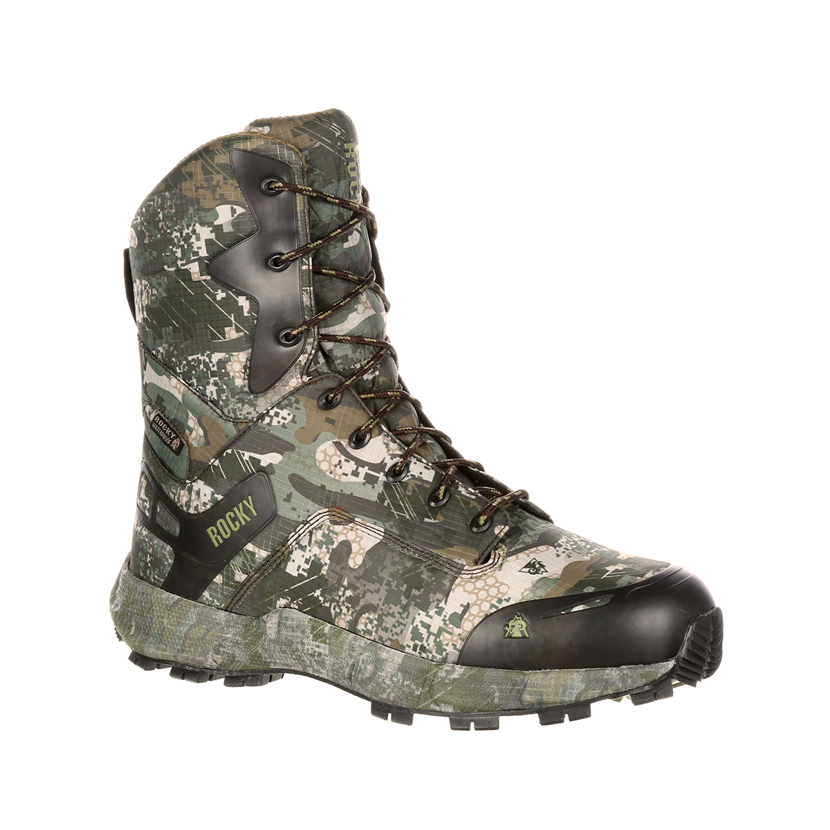 Rocky Men's 8'' Camo Hunting Outdoor Boots Camouflage Nylon Rubber 11.5 M by ROCKY BRANDS