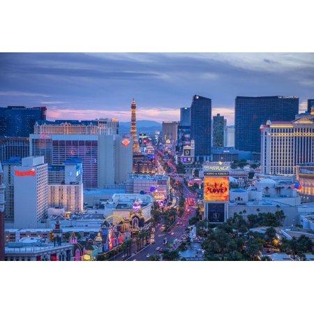 Usa, Nevada, Las Vegas, the Strip Print Wall Art By Alan Copson (Vegas Halloween Strip)