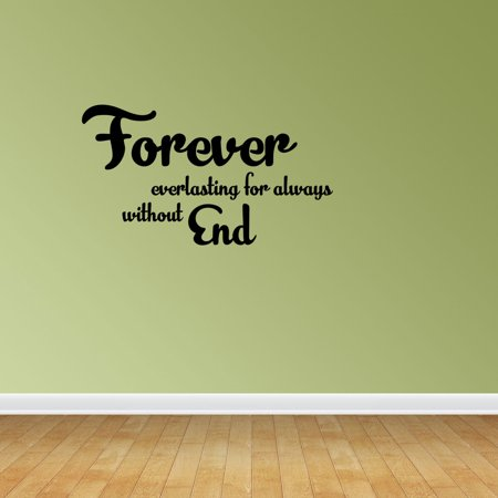 Definition Of Forever Quote Vinyl Wall Decals Romantic Decal PC154](Halloween Romantic Quotes)