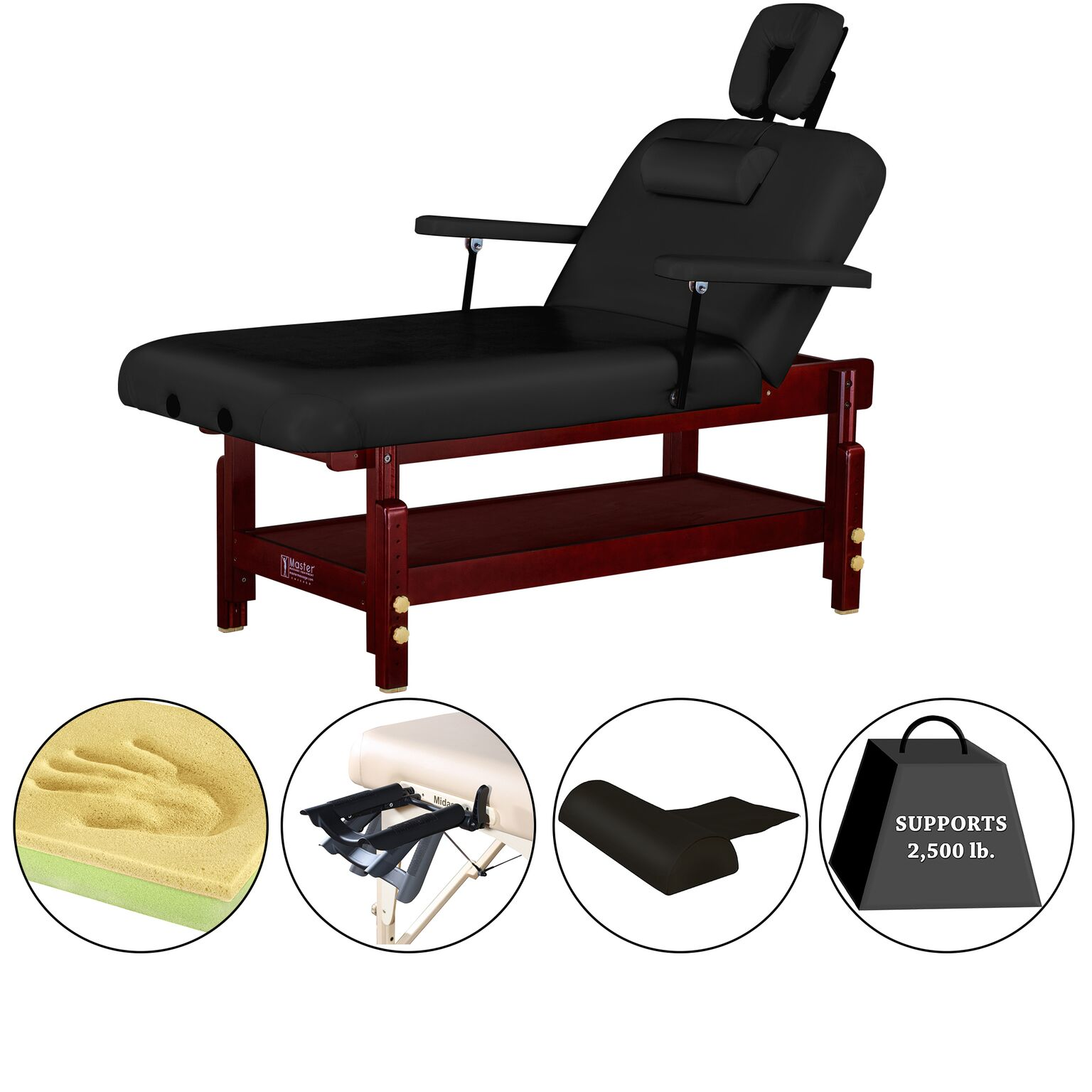 "Master Massage 31"" Montclair Stationary Massage Table"
