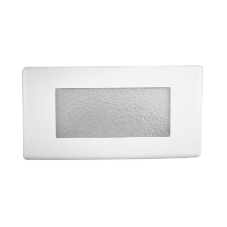 NICOR Lighting 10-Inch Textured Glass Recessed Step Lighting Faceplate Cover for 15803 LED Step Light (Recessed Vertical Step Light)
