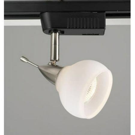 PLC Lighting TR92 OPAL Aspen Track Lighting 1 Light Halogen 12V 50W in Satin Nickel
