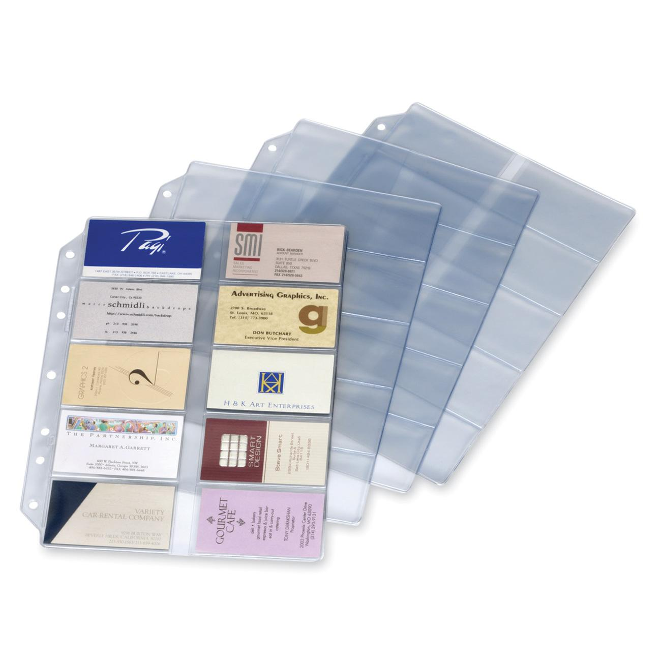 Cardinal EasyOpen Card File Binder Refill Pages