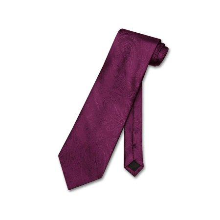 Color Paisley Necktie - Vesuvio Napoli NeckTie EGGPLANT PURPLE Color Paisley Design Men's Neck Tie