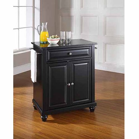 Crosley Furniture Cambridge Solid Black Granite Top Portable Kitchen Island