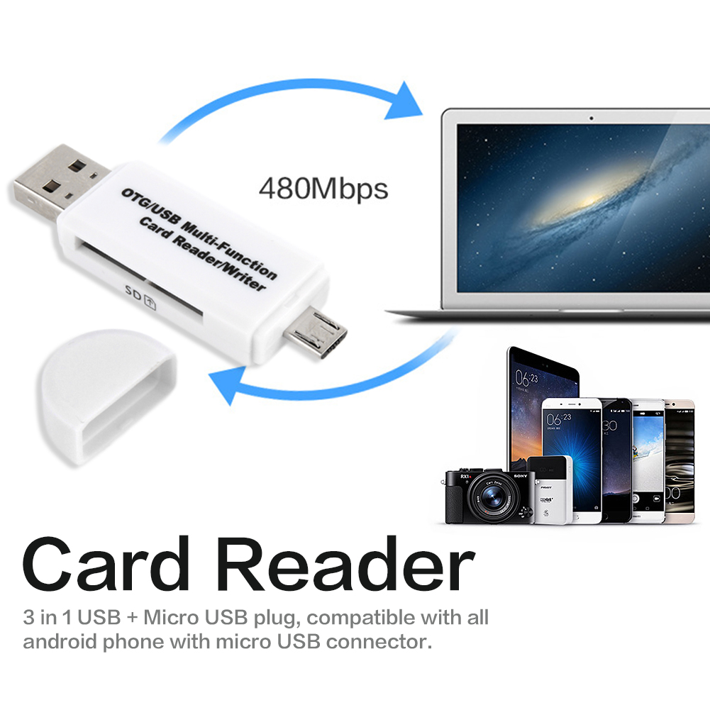 Micro SD Card USB Mobile Phone Card Reader TF High-speed 2.0 Multi-functional OTG Card Reader