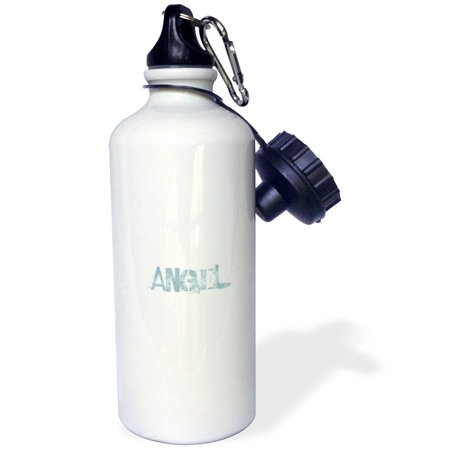 3dRose Vintage Blue Angel Words to Inspire, Sports Water Bottle, 21oz