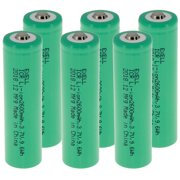 6pc ICR 18650 3.7V Li-Ion 2600mAh Rechargeable Button Top Battery FAST SHIP