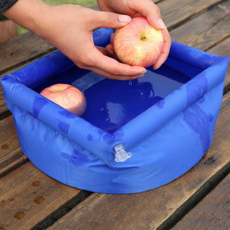 Vingtank Outdoor Folding Bucket Camping Travel Wash basin Inflatable Bucket - image 3 of 8