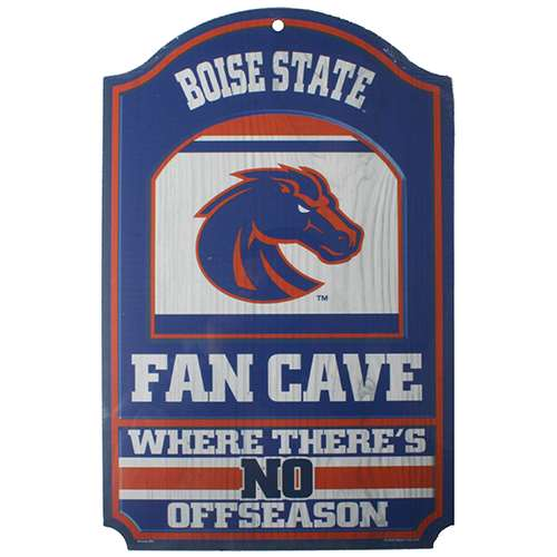 Boise State Broncos Fan Cave Wood Sign