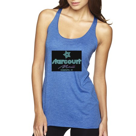 Trendy USA 1310 - Women's Tank-Top Starcourt Mall Hawkins Stranger TV Movie Pop Culture Large Royal Blue (Marketplace Mall)