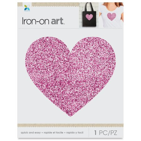 Momenta Iron-On Art](Glitter Heart)