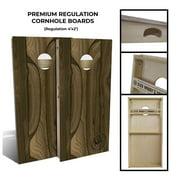 Slick Woody's Regulation Ziricote Cornhole Board Set in Natural (8 Bags)