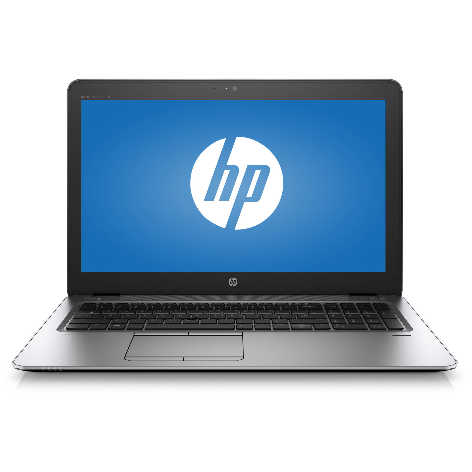 "HP Silver 15.6"" EliteBook 755 G3 Laptop PC with AMD A12-8800B Quad-Core Processor, 8GB Memory, touch screen, 256GB Solid State Drive and Windows 7 Professional"