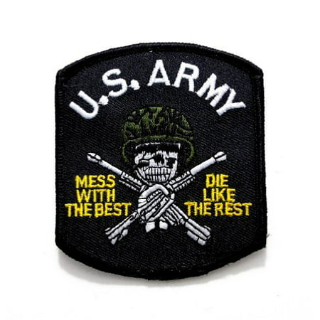 U.S. Army Mess With The Best Die Embroidered Military Patch Iron or Sew (Best Place To Put The Patch)
