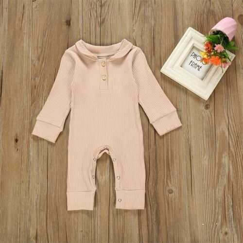 Baby Girls Romper Newborn Jumpsuit Long Sleeve Bodysuit Cotton Sleepsuits 3-6 Months