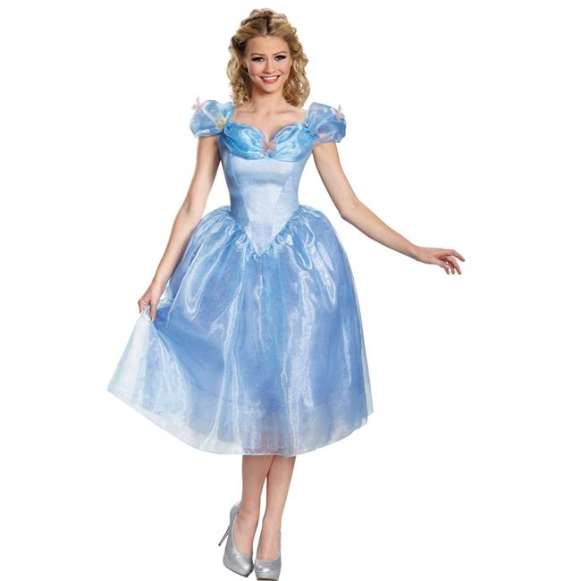 Morris Costumes DG87039F Cinderella Movie Deluxe Adult Costume, Size 18-20