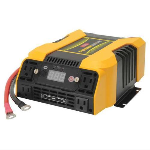POWER DRIVE PD1500 Inverter,115VAC,12VDC,4-Outlet G0492515
