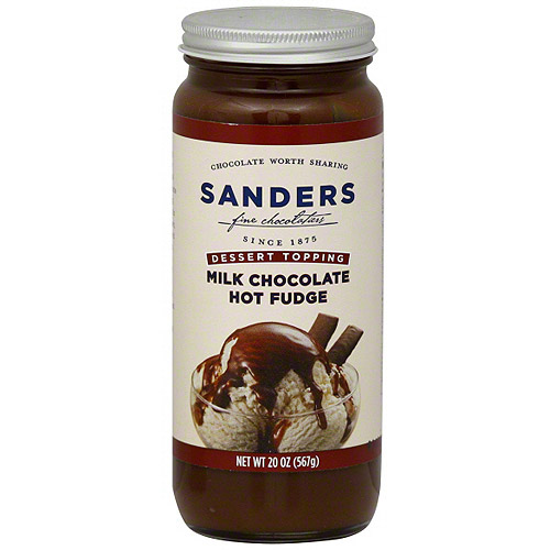 Sanders Milk Chocolate Hot Fudge Dessert Topping, 20 oz (Pack of 12)
