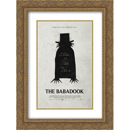 The Babadook 18X24 Double Matted Gold Ornate Framed Movie Poster Art Print