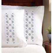 """Design Works Daisy Lace Pillowcases - 2 standard size (20"""" x 30"""")"""