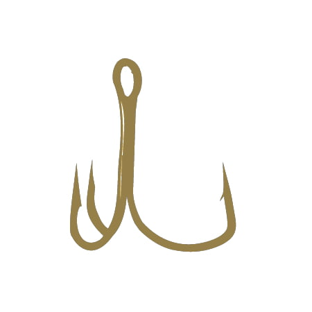 Wide Gap Treble Hooks (Gamakatsu Size 4 Extra Wide Gap Treble Bronze 11 Pack 77108)