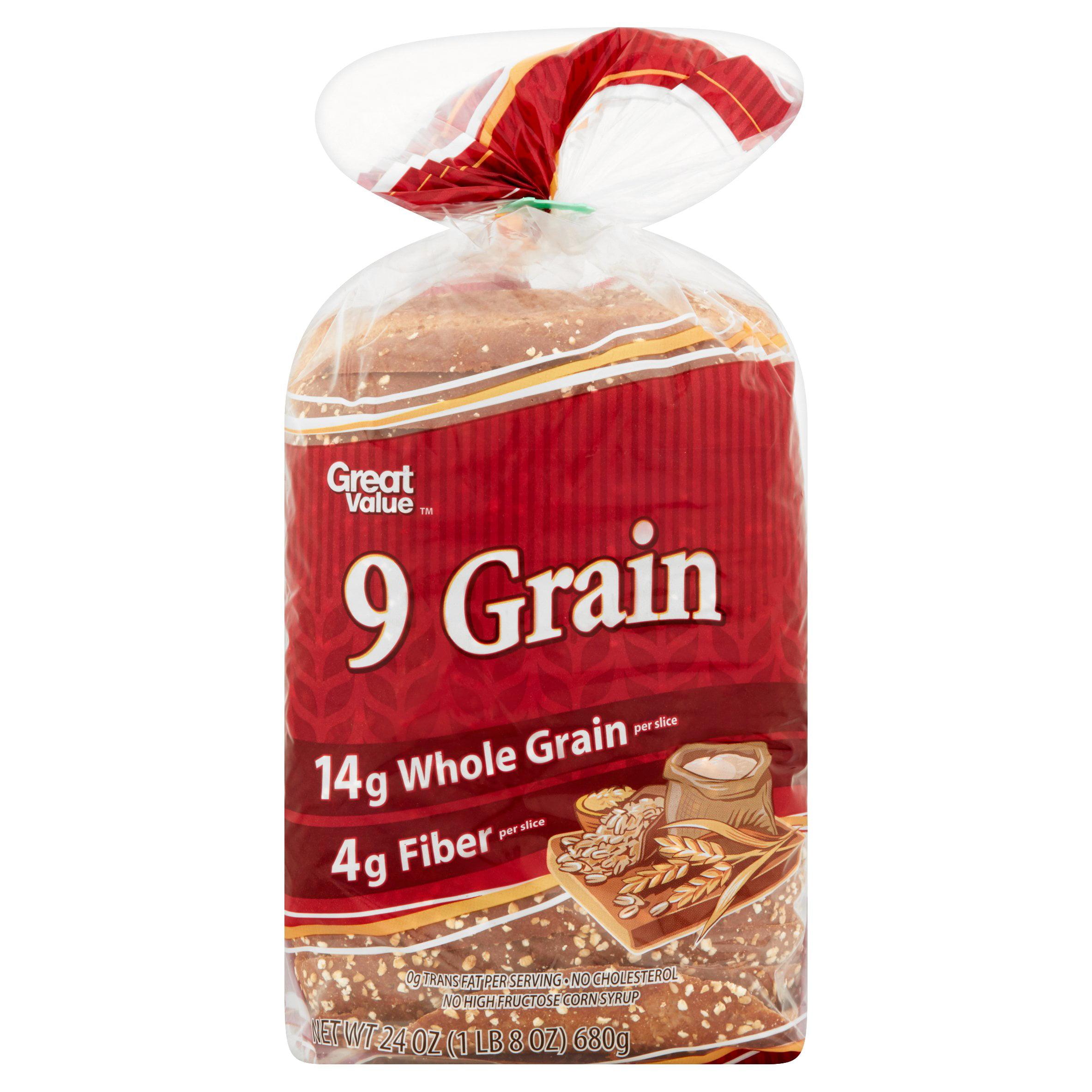 Great Value 9 Grain Bread, 24 oz