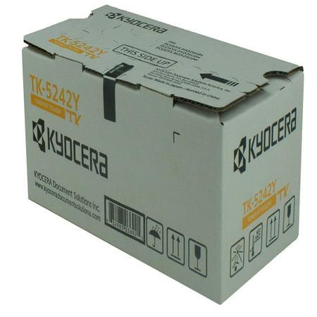 OEM Kyocera Mita TK-5242Y (1T02R7AUS0) Toner Cartridge, YELLOW, 3K YIELD - for use in Kyocera Mita M5526CDW printer, P5026CDW