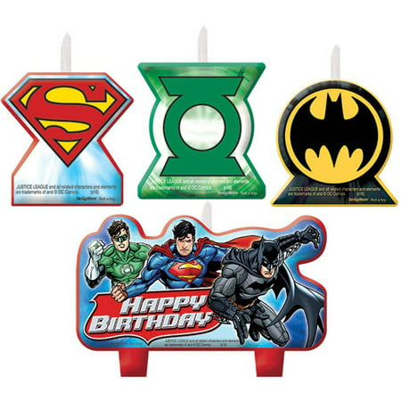Justice League Birthday Candle Set - Justice League Halloween Theme