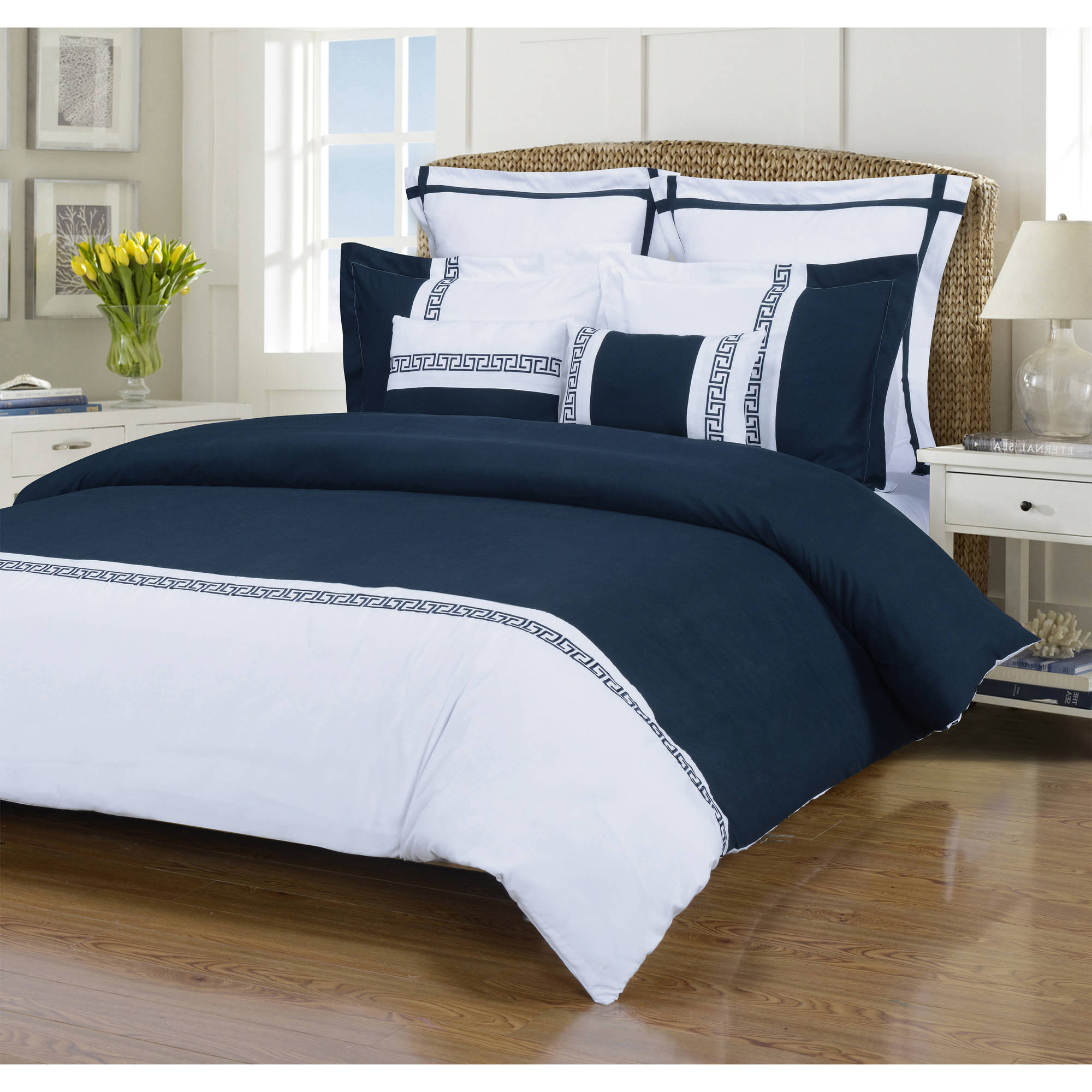 Superior Emma Brushed Microfiber Wrinkle Resistant 7-Piece Duvet Cover Set