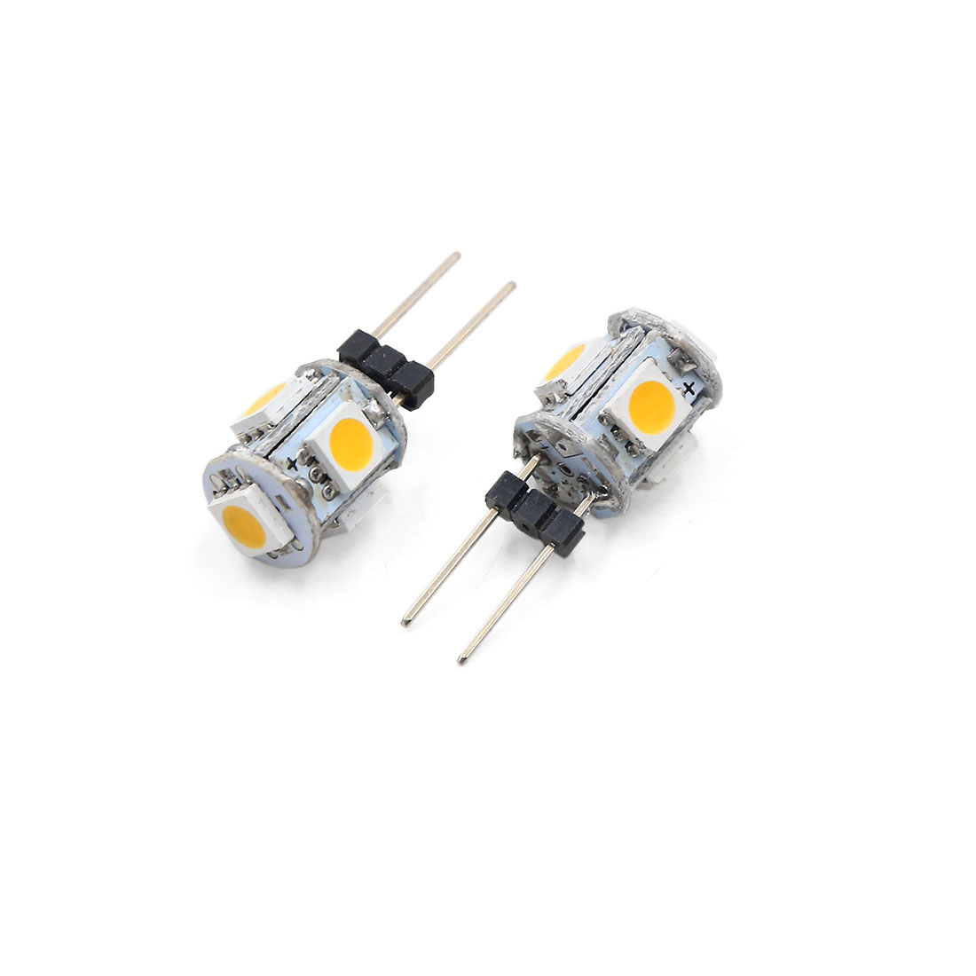 10 Pcs G4 Base 5050 SMD 5 LED Warm White Auto Car Dashboard