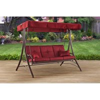 Deals on Mainstays Callimont Park 3-Seat Canopy Porch Swing Bed