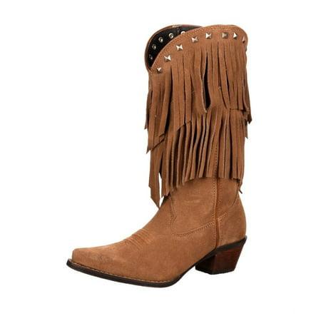 Durango Western Boots Womens Crush Flirty Fringe Desert Tan DCRD150